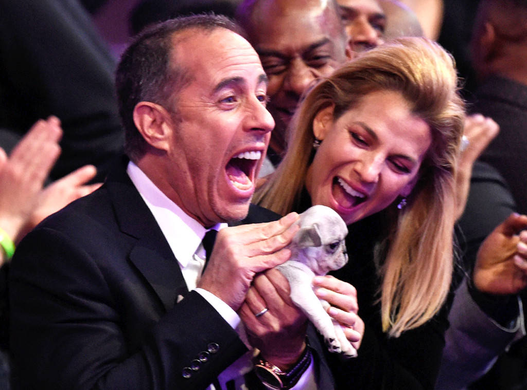 rs 1024x759 180128201955 1024 jerry seinfeld puppy grammy candids ms 012818 - James Corden Amuses The Audience At The 60th Grammy Awards When He Hands Out Cute Puppies To Grammy Losers