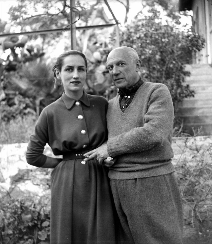 UNSPECIFIED - 1951: Pablo Picasso and Francoise Gillot, by 1952. LIP-1069-007. (Photo by Lipnitzki/Roger Viollet/Getty Images)