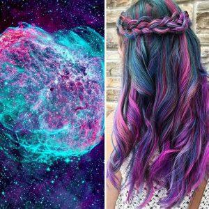 """galaxy hair 1 300x300 - """"Galaxy Hair"""": Cabelos com cores inspiradas na galáxia são a nova tendência"""