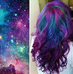 """galaxy hair 14 297x300 - """"Galaxy Hair"""": Cabelos com cores inspiradas na galáxia são a nova tendência"""