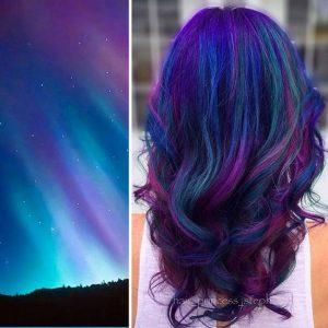 """galaxy hair 4 300x300 - """"Galaxy Hair"""": Cabelos com cores inspiradas na galáxia são a nova tendência"""