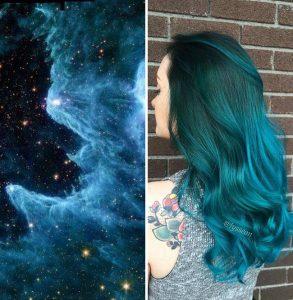 """galaxy hair 7 293x300 - """"Galaxy Hair"""": Cabelos com cores inspiradas na galáxia são a nova tendência"""