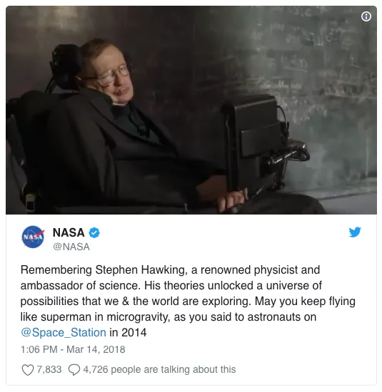 img 5aa936e498d4b - Murió Stephen Hawking a sus 76 años y así lo homenajearon en las redes