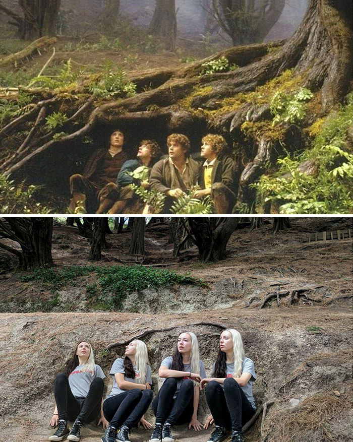 lord3 - She Visited Almost All Of The Lord Of The Rings Filming Locations And Recreated Some of The Scenes