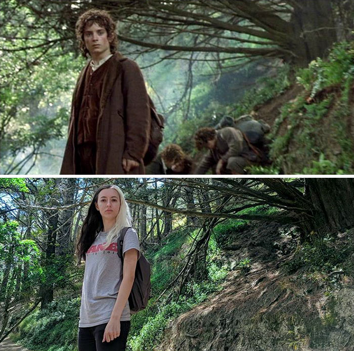 lord4 - She Visited Almost All Of The Lord Of The Rings Filming Locations And Recreated Some of The Scenes