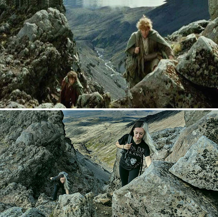 lord5 - She Visited Almost All Of The Lord Of The Rings Filming Locations And Recreated Some of The Scenes