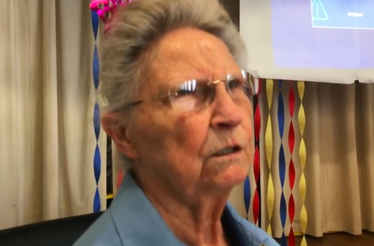 surprise birthday party for janitor 4 - Old Janitor Surprised by Birthday Party Thrown by her School