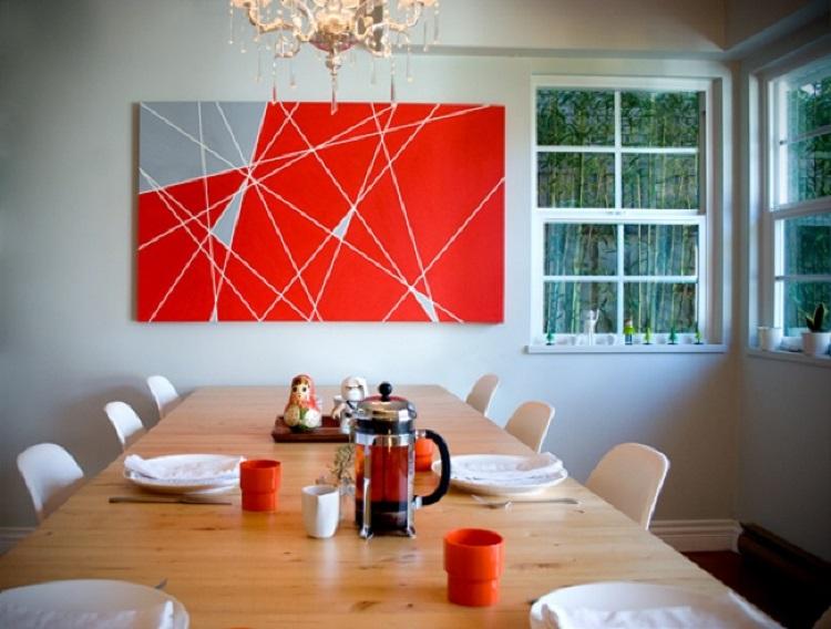 Resultado de imagem para abstract art on wall