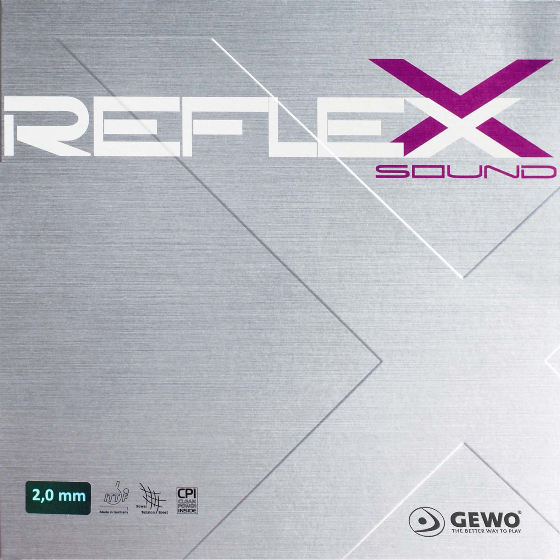 GEWO Reflexx Sound rot 2.0 mm