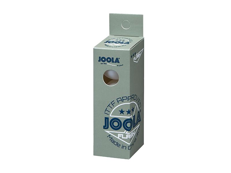 JOOLA Wettkampfball Flash *** 3-er Päckchen weiß