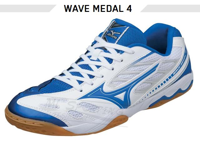 MIZUNO Wave Medal 4 weiss-blau