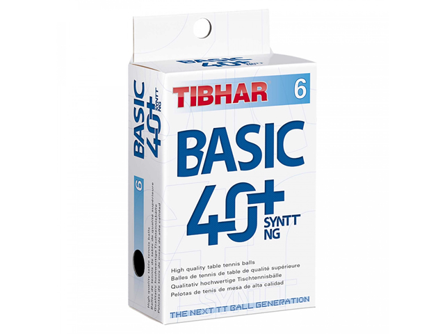 TIBHAR Trainingsball Basic 40+ SYNTT NG 2 x 6er (12 Bälle)
