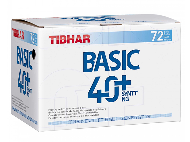 TIBHAR Trainingsball Basic 40+ SYNTT NG 1 x 72er (72 Bälle)