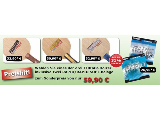TIBHAR Rapid | Rapid Soft & HOLZ-Paket