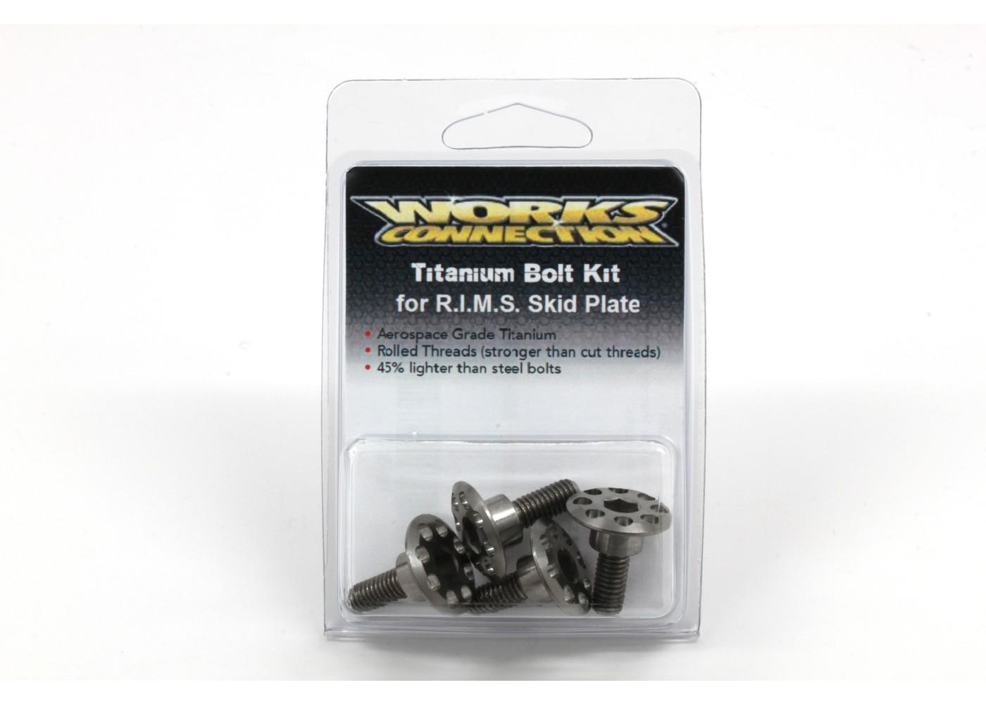 SKid Plate w RIMS System Titanium Bolt Kit - worksconnection com