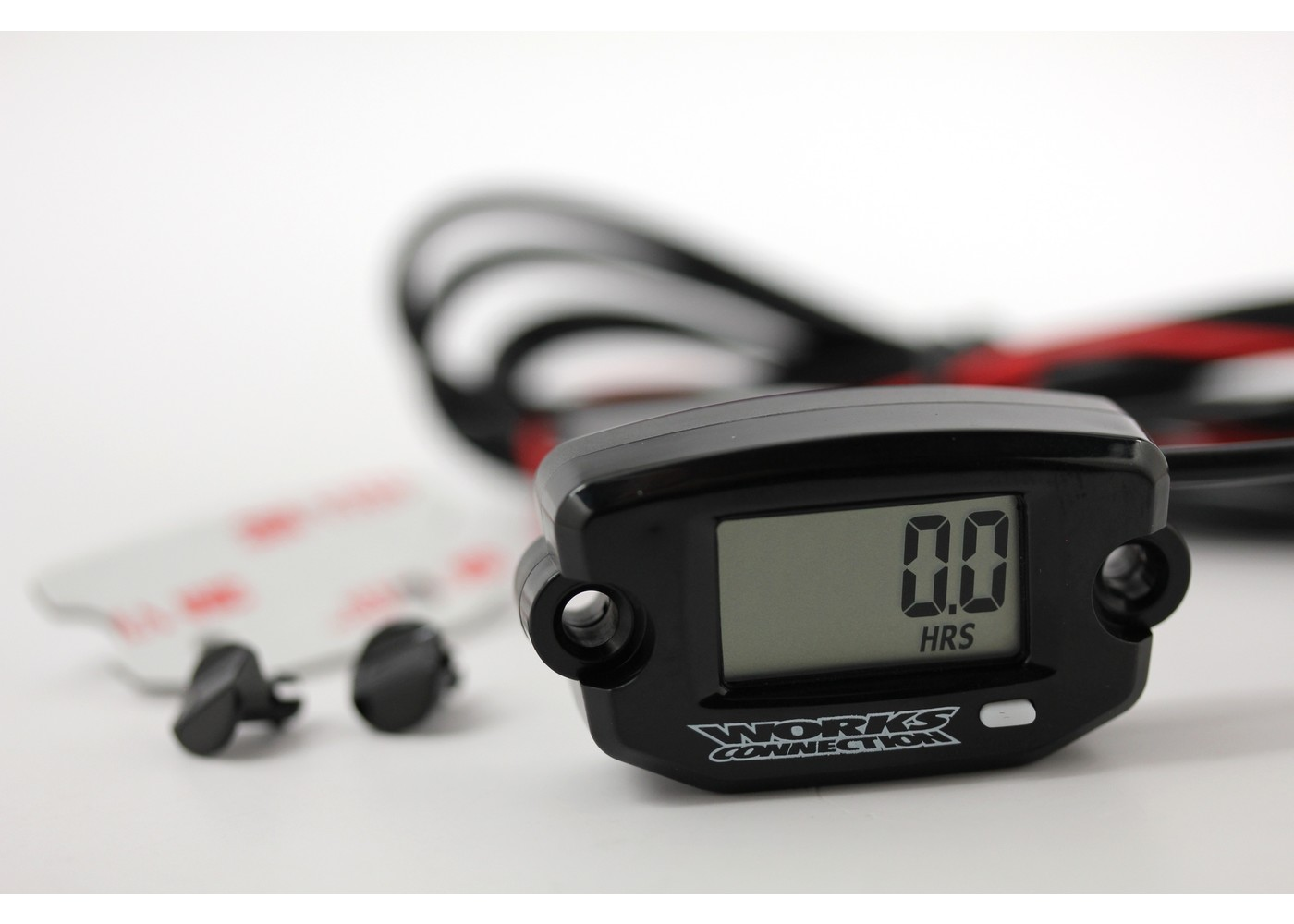 Works Connection 37-200 Tach//Hour Meter//Clock with Maintenance Timer /& 37-205 Mount Kit