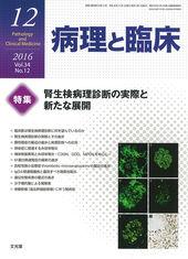 2016年12月号<br>腎生検病理診断の実際と新たな展開のカバー写真