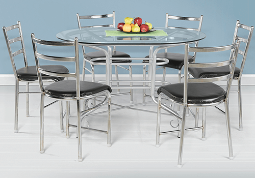 Round Table Late Delivery Policy.Glass Top 6 Seater Dining Table Set On Rent In Bangalore Guarented