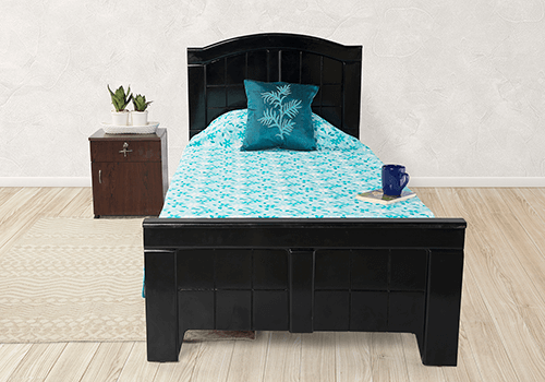 Solid Wood Single Bed And Mattress Combo On Rent