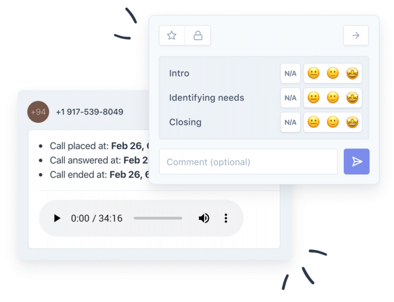 Sales Call Review Software Screenshot