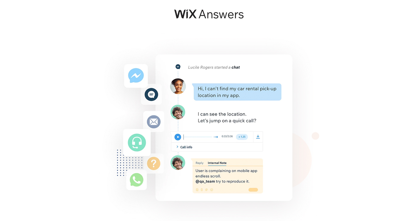 wix answers screenshot