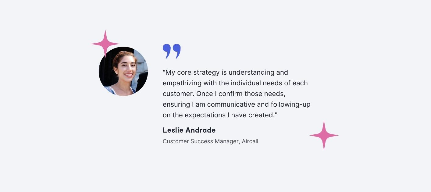 Leslie Andrade - Customer Success Manager, Aircall