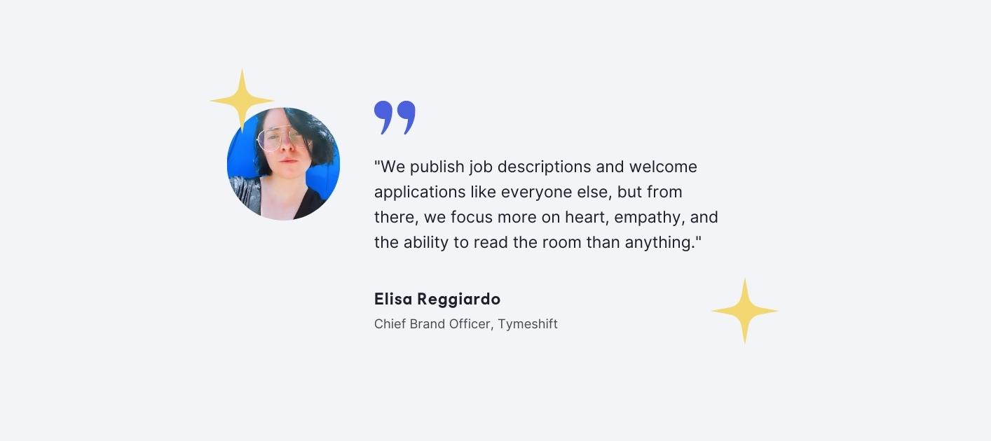 Elisa Reggiardo - Chief Brand Officer, Tymeshift