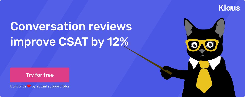 Klaus improves CSAT by 12%
