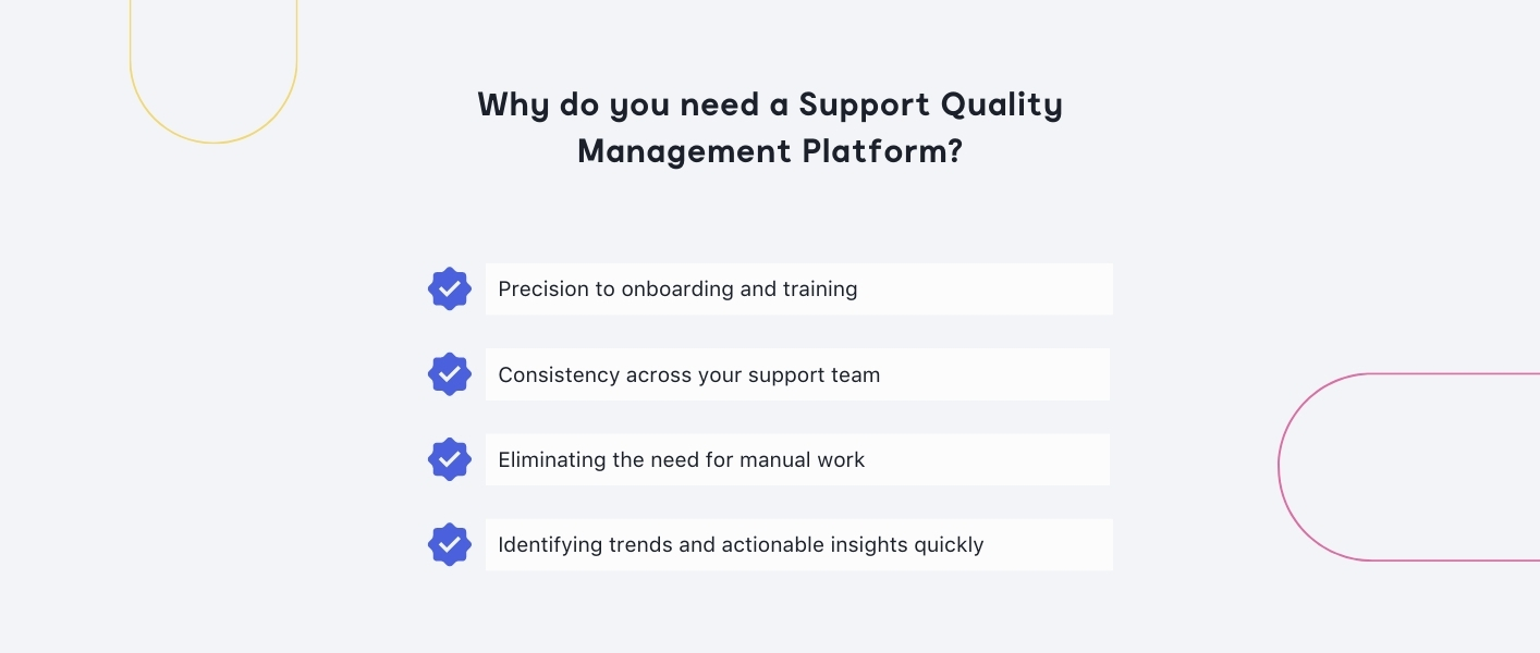 Why do you need support quality management platform