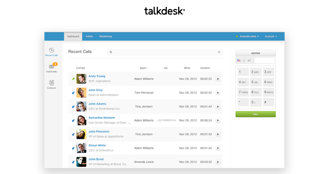 talkdesk screenshot