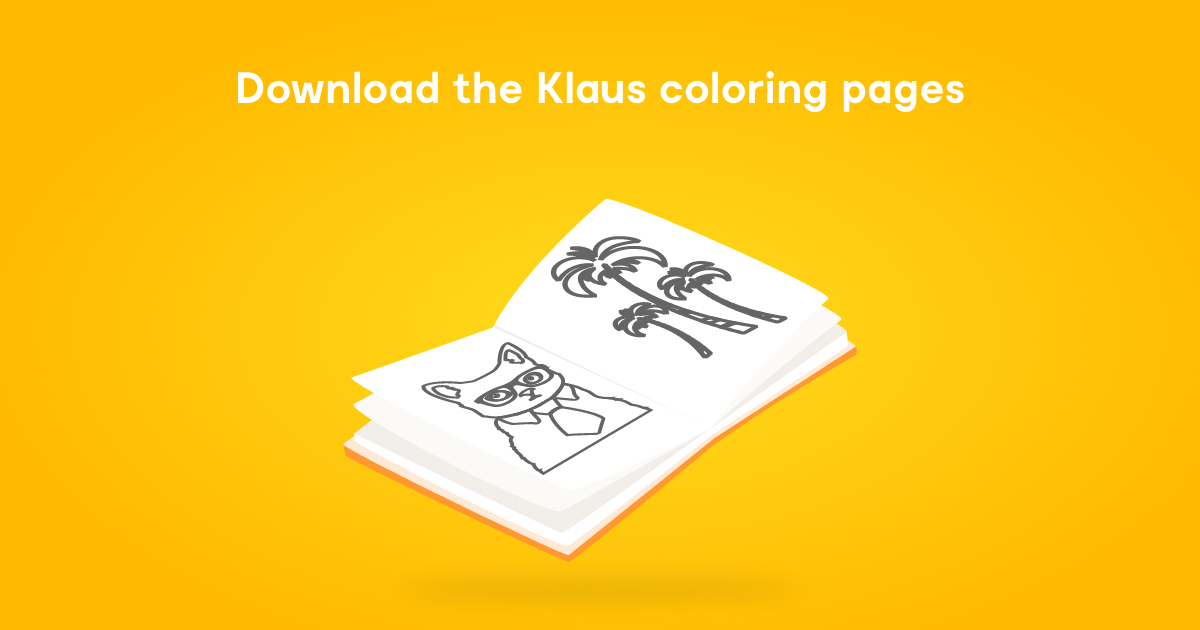 Printable Klaus Coloring Pages for Cool Cats