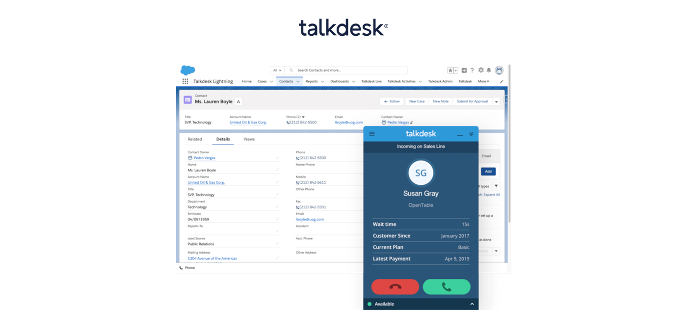 Talkdesk-screenshot