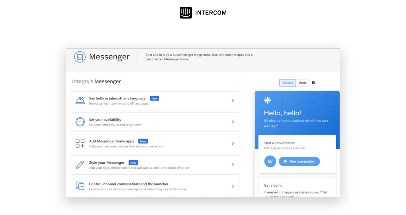 intercom screenshot chat