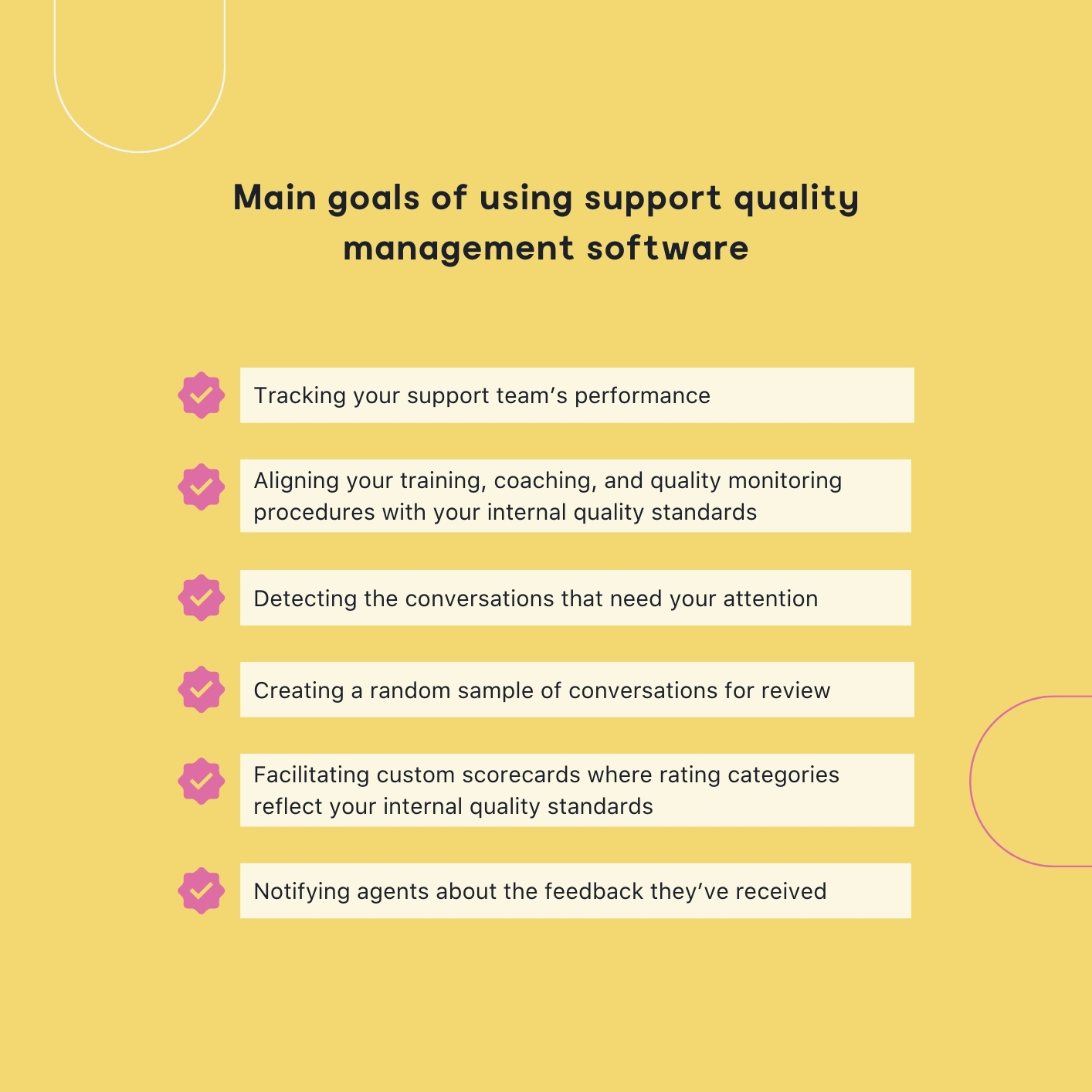 goals of using support quality management software