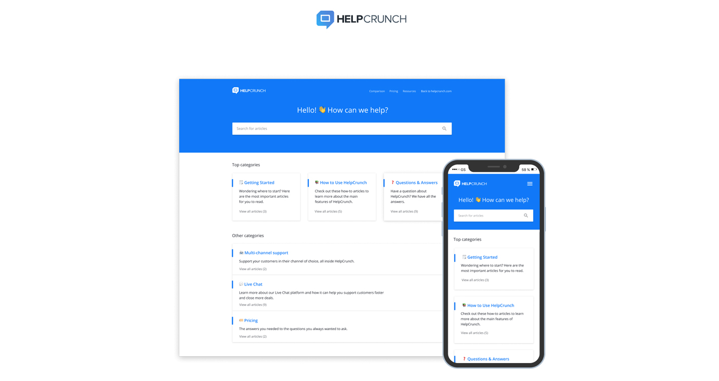 helpcrunch screenshot