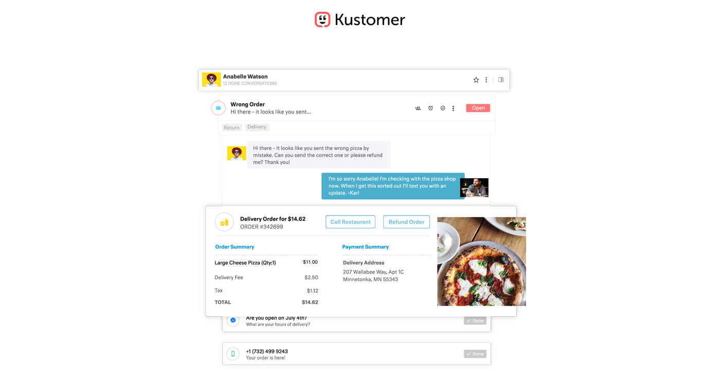 Kustomer screenshot