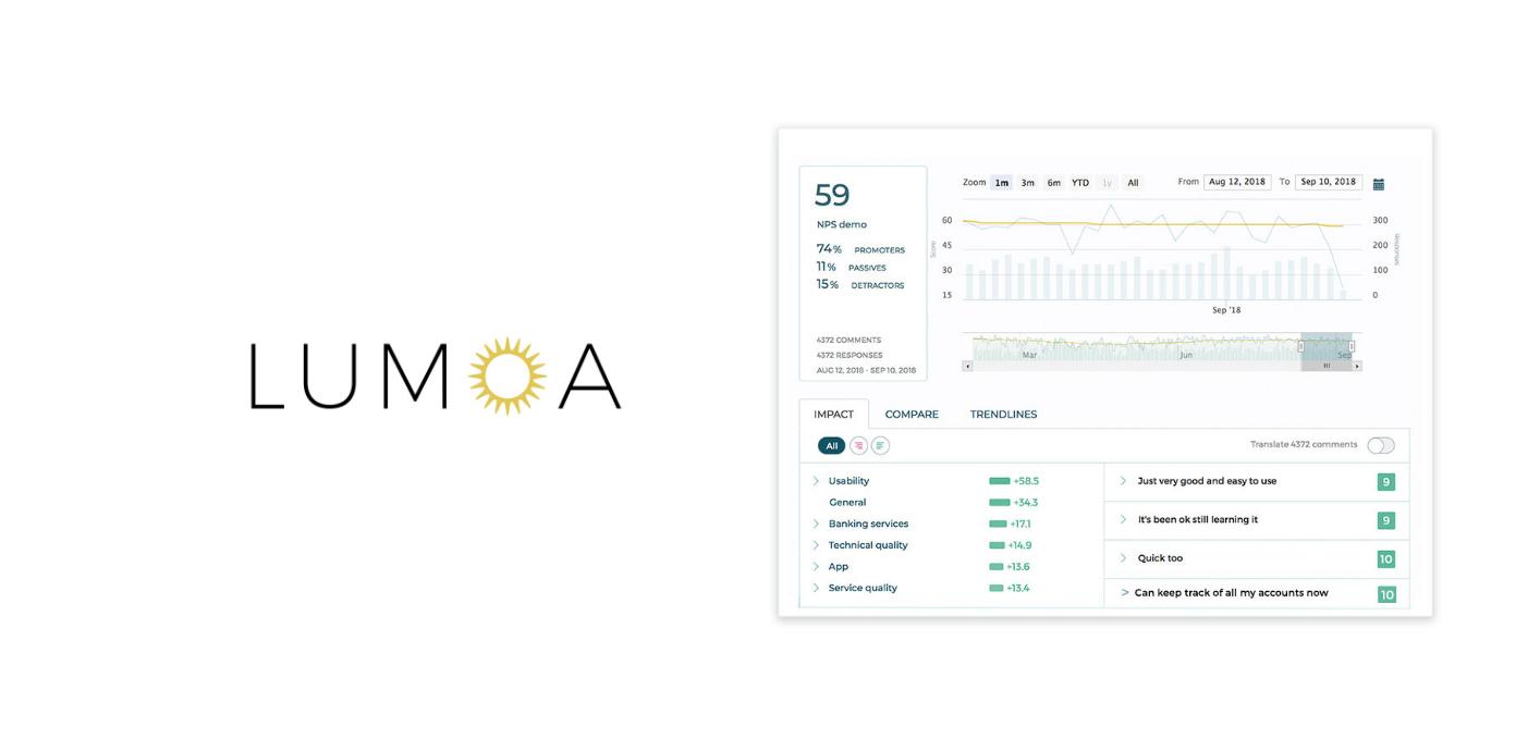 Lumoa CSAT, NPS, CES, customer feedback tool