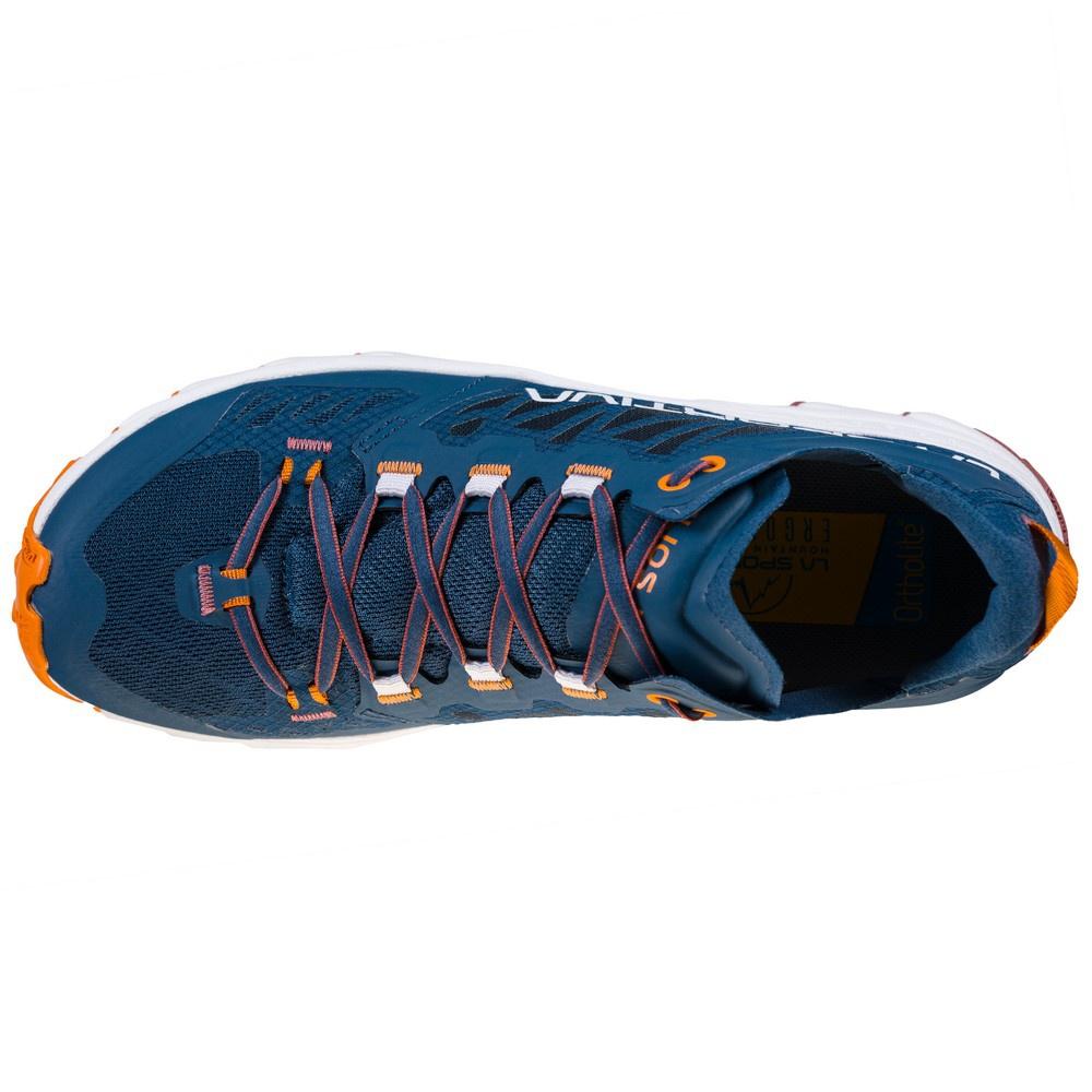 Helios III Denim/Rouge Mujer - Zapatilla Trail Running La Sportiva