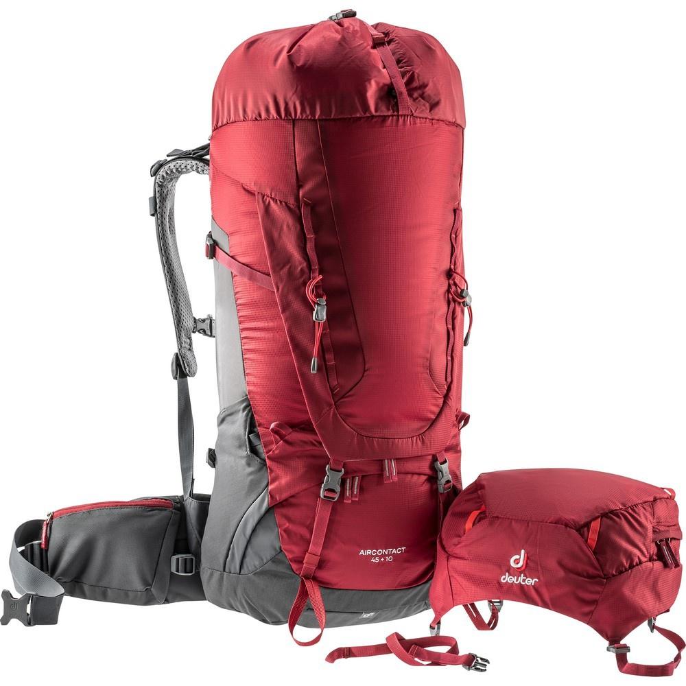 Aircontact 45 + 10 - Mochila 55 litros Rojo Trekking Deuter