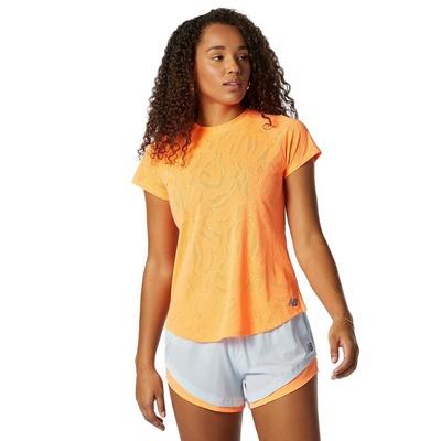 Q Speed Fuel Jacquard Mujer - Camiseta  Trail Running New Balance