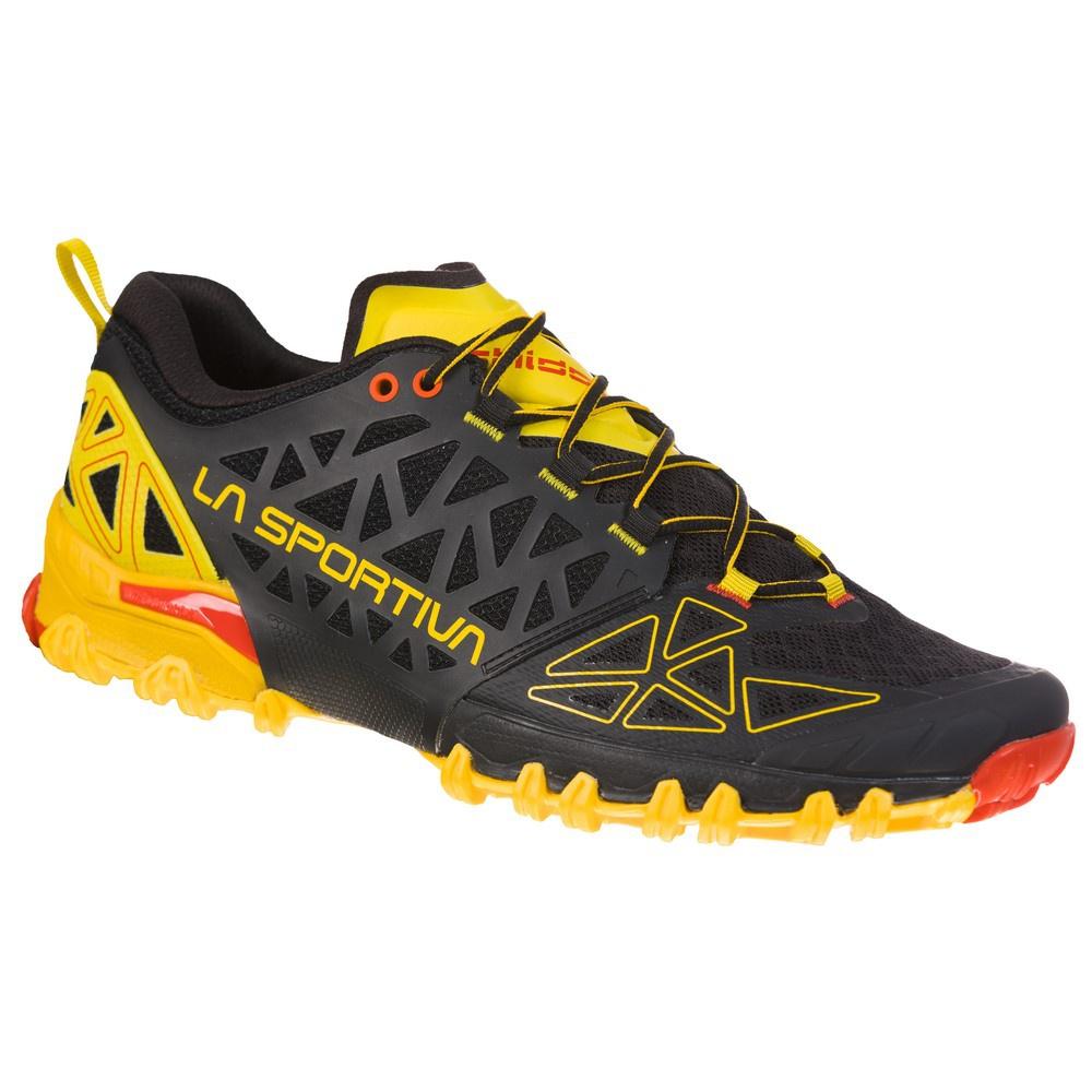 Bushido II Black/Yellow Hombre - Zapatilla Trail Running La Sportiva