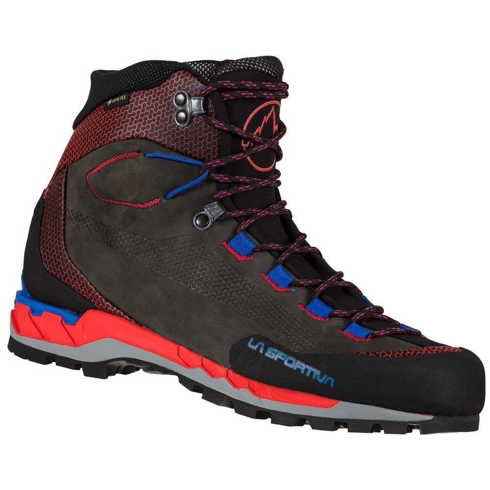 Trango Tech Leather Goretex Carbon/Goji Hombre - Botas Alpinismo La Sportiva