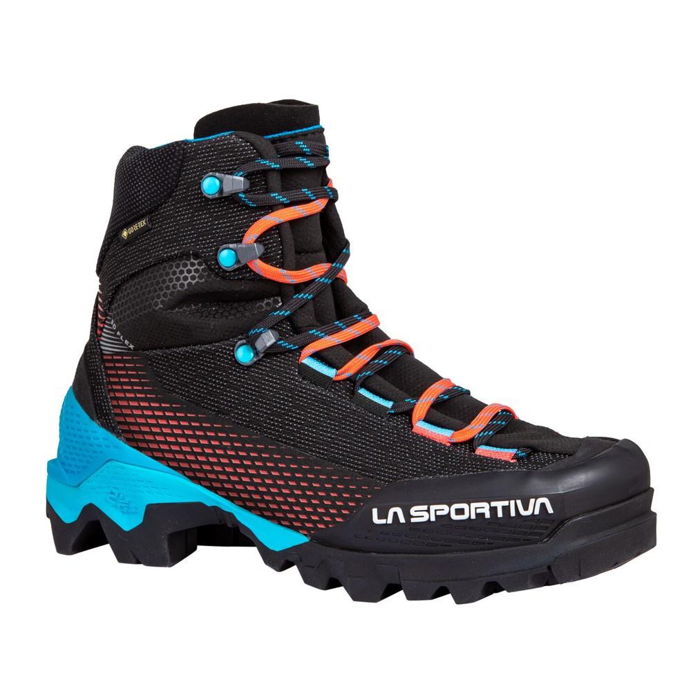 Aequilibrium ST Goretex Black/Hibiscus Mujer - Botas Alpinismo La Sportiva