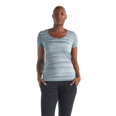 Tech Lite SS Scoop 1000 Lines Mujer - Camiseta Trekking Icebreaker