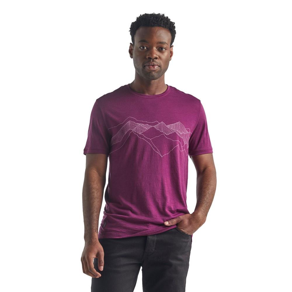 Spector SS Crewe Peak Patterns Hombre - Camiseta Trekking Icebreaker