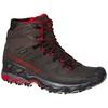 Ultra Raptor II Leather Mid Goretex Carbon/Tango Red Hombre - Botas Senderismo La Sportiva
