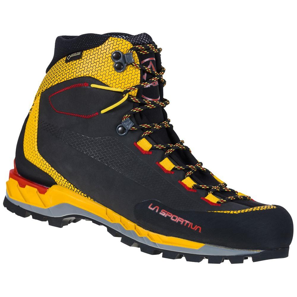Trango Tech Leather Goretex Black/Yellow Hombre - Botas Alpinismo La Sportiva