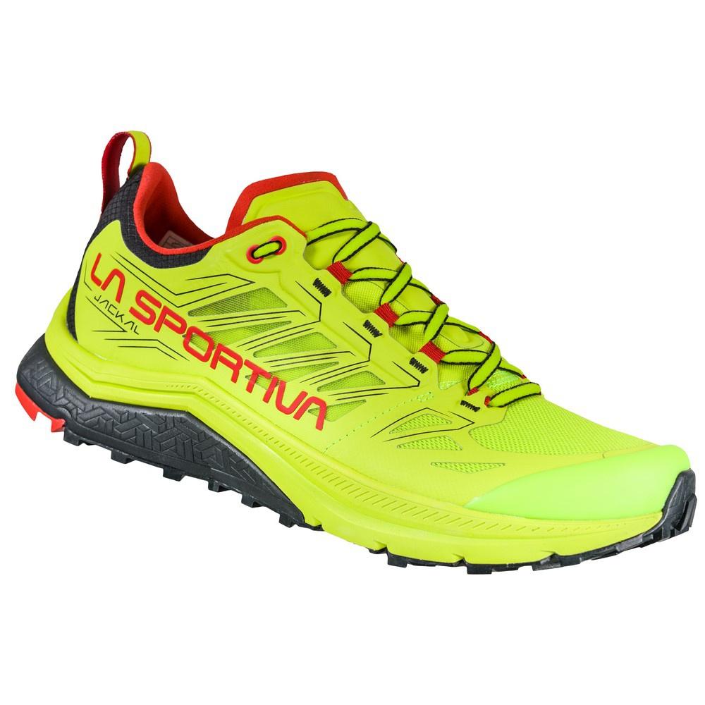Jackal Neon/Goji Hombre - Zapatilla Trail Running La Sportiva