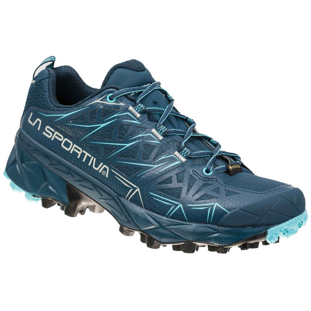 Akyra Goretex Midnight/Aquarelle Mujer - Zapatillas Trail Running La Sportiva
