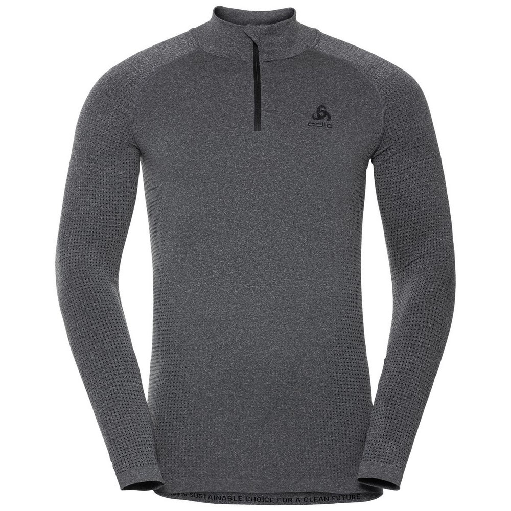 Performance Warm Eco Bl Top Turtle Neck Half Zip Hombre - Camiseta Esquí Odlo